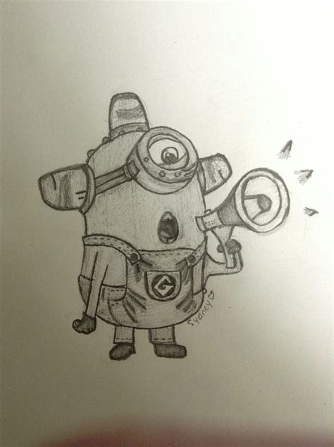 my despicable me 2 drawing of a minion minion