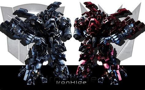 Mecha Transformer Optimus Ironhide Bumblebee Shockwave the darkside ironhide by arkaneapocolypse on deviantart