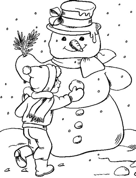 winter coloring pages for coloringpagesabc