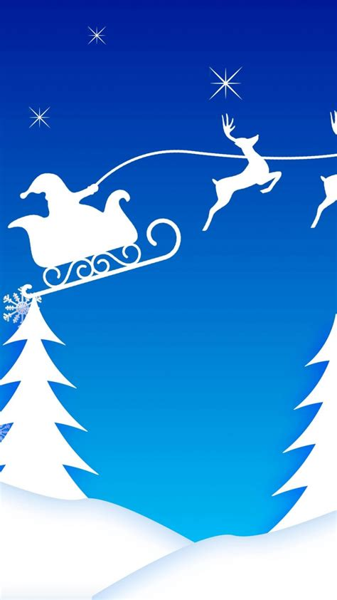 wallpaper keren lenovo a6000 santa s sleigh illustration hd wallpaper for a6000 screens