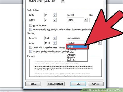 How To Make Your Paper Spaced - how to space in word 12 steps with pictures