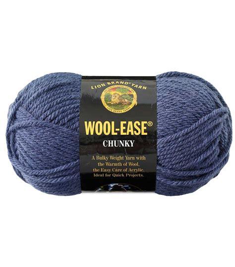 pattern ease joann lion brand wool ease chunky yarn jo ann