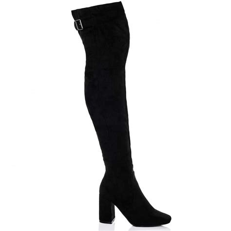 black thigh boots