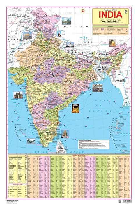 india on map political map of india buy political map of india