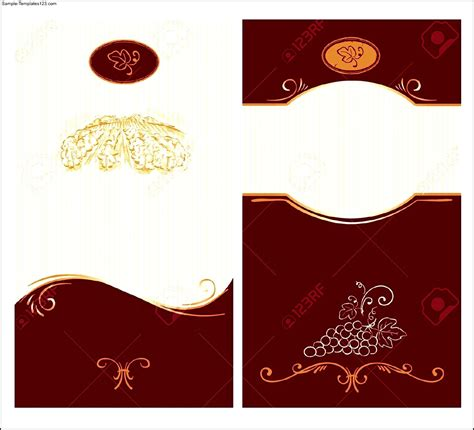 blank wine label template sle templates