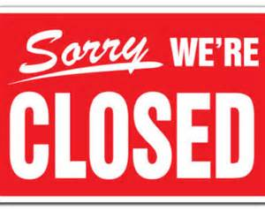 we are closed sign template sorry we re closed etsy