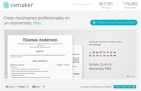 curriculum vitae maker infonet 10 sitios donde publicar un curriculum vitae en