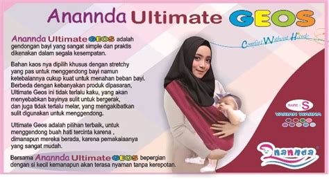 Gendongan Bayi Simple gendongan kaos ultimate geos anannda grosir retail