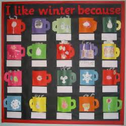 Craft Mugs To Decorate Winter Bulletin Board Ideas Library Learners