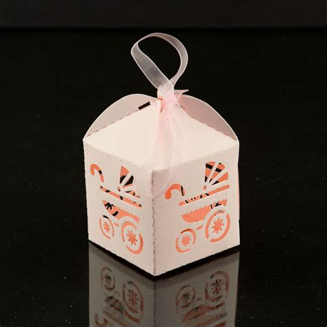 For Baby Shower Favor Boxes by Pink Baby Carriage Favor Box Baby Shower Decorations Gift Bow 24pcs Ebay