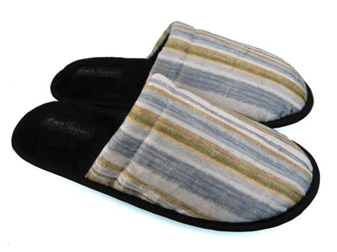 mens house slippers men s house slippers stripe design 4 mps0311 163 8 99 monster slippers