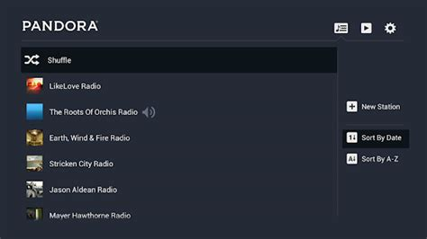 pandora android pandora 174 radio for tv android apps on play