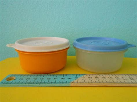 Limited Item Tupperware Assorted Container other kitchenalia 2 small vintage tupperware containers and lids was sold for r40 00 on 22 feb
