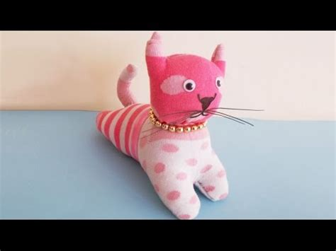 diy sock kitten easy sewing project how to make diy stuffed cat from
