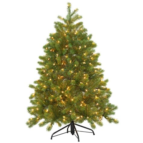 4 ft christmas tree with lights 4 5 ft feel real downswept douglas fir artificial
