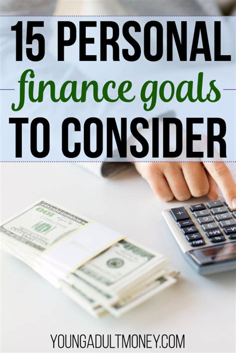 personal finance goals   young adult money