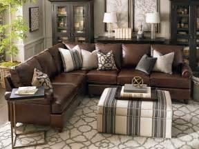 Most Comfortable Counter Stools Montague Leather Sectional Living Room By Bassett