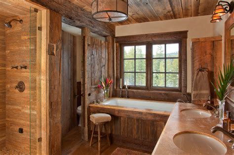 Western Bathroom Ideas Peaks Cabin