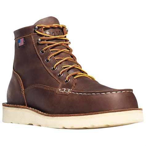 danner steel toe boots danner bull run moc toe 6 in brown steel toe work boot 15564
