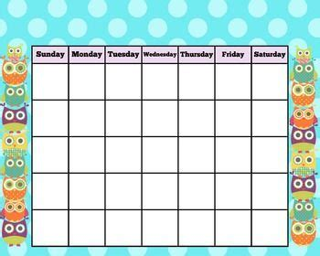 owl calendar clipart 27