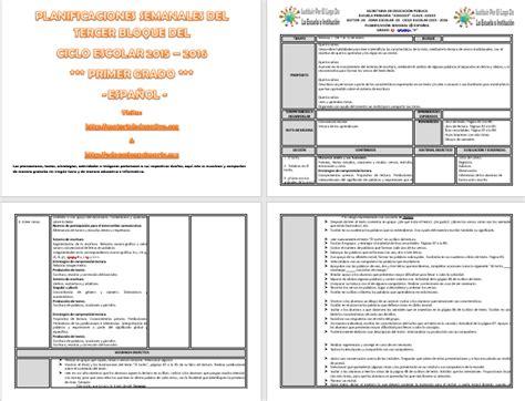 planificaciones de primaria 2016 pdf planeaciones primaria gratis 2015 2016 tercer grado cuarto