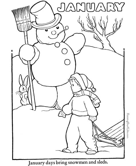 January Coloring Pages Free Printable january coloring pictures new calendar template site