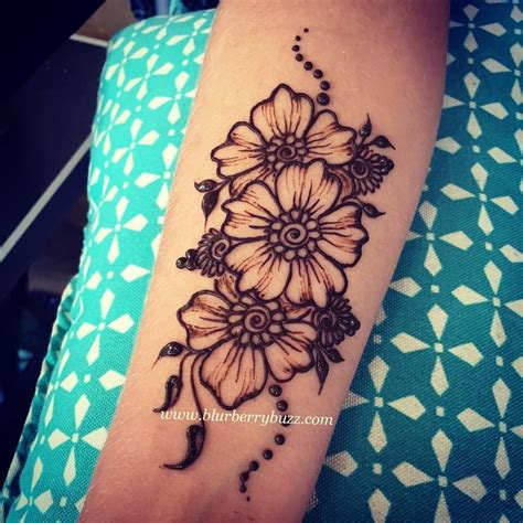 henna style flower tattoos henna by drawing henna