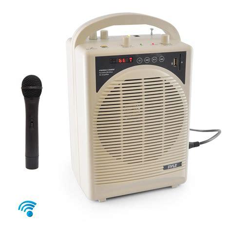 Microphone Speaker Portable Karaoke Ktv Wireless Mic Geek09 Series Ori pylepro pwma120bm home and office pa loudspeakers cabinet speakers sound and recording