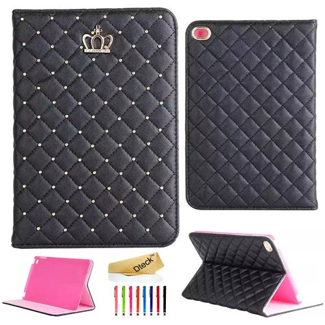 Flip Cover Leather Crown Wallet Standing Cover 4 5 6 bling glitter flip leather smart stand cover for air 2 air mini 4 ebay