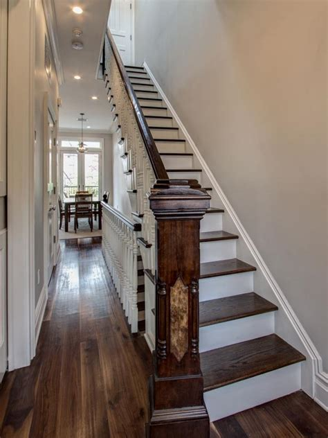 traditional staircase  brooklyn entryway hgtv