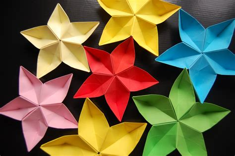 Origami Pictures And - origami flower