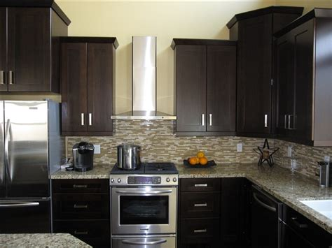 espresso shaker wood kitchen bathroom cabinets