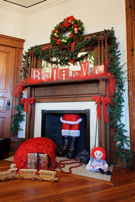 mantel fireplace santa fireplaces