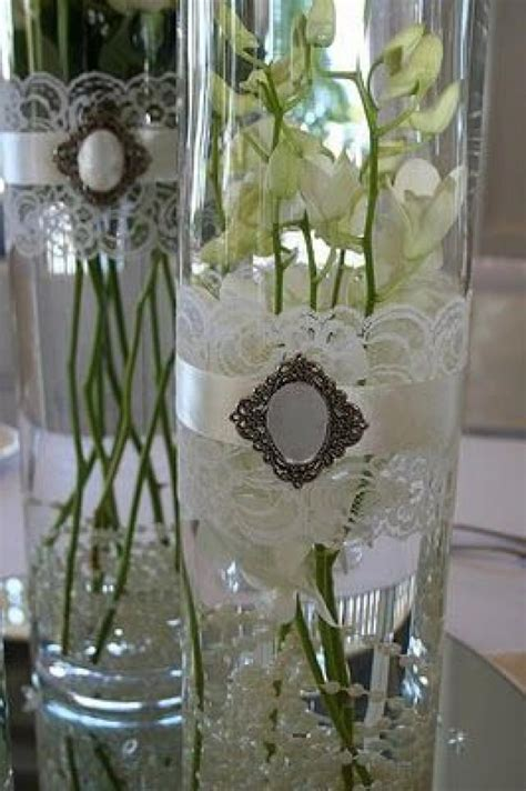 vintage wedding vintage lace vases 2054238 weddbook