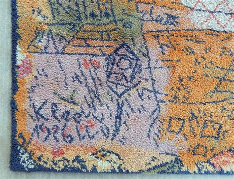 paul rugs large wool ege area rug paul klee design 1926 quot florentinisches villenviertel quot for sale at 1stdibs