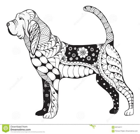 bloodhound coloring pages coloring pages