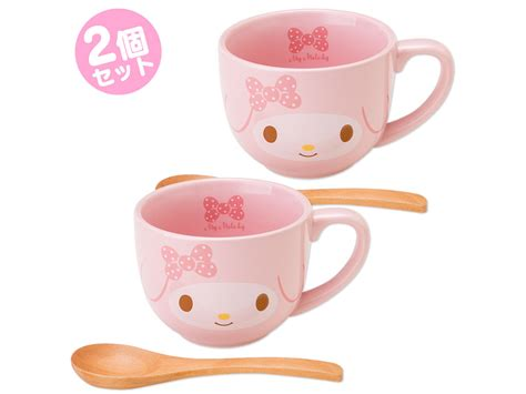 Home Decor Canada Online my melody mug cup set with bamboo spoon sanrio japan