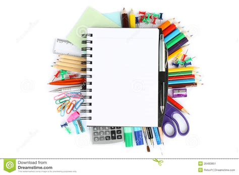printable stationery items stationery items stock image image 26483851