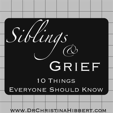 siblings grief      dr