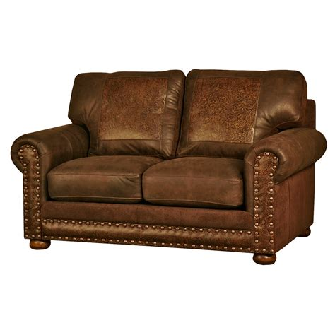 Lone Furniture by Western Furniture Rancher Stallone Timber Loveseat Lone