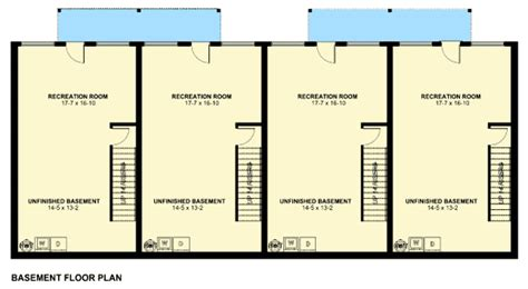 Four Plex With Covered Entries 67714mg 2nd Floor 4 Plex House Plans Canada