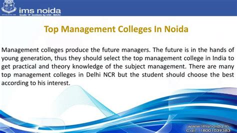 Best Mba Colleges For Operations Management In India by Ppt Best B School In Delhi Ncr Powerpoint Presentation