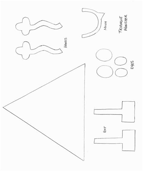 Monster Craft Template Shapes Crafts Print Your Triangle Monster Template At Allkidsnetwork Preschool Printable Activities Template