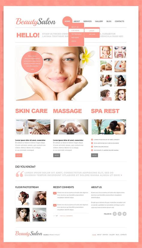 free beauty drupal themes templates creativetemplate