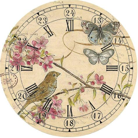 printable clock faces for crafts vintage clock face printable fancy style pinterest