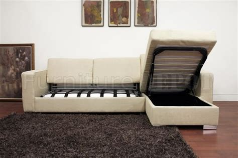 Superb Sectional Sleeper Sofa With Storage 8 Cream Fabric Sectional Sofa With Storage And Sleeper