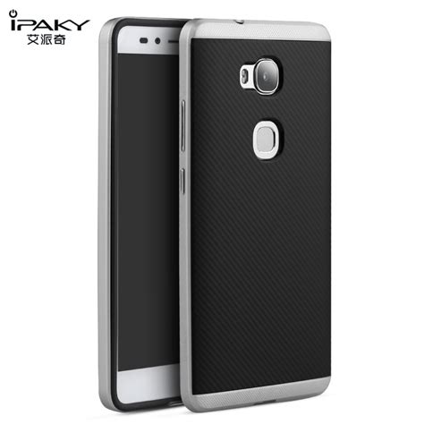 Huawei Honor Gr5 5x Carbon Armor Soft Cover Casing Keren Mewah original ipaky for huawei honor 5x gr5 silicone pc 2 in 1 hybrid combo back cover for