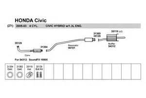 Honda Civic Exhaust System Replacement Walker 174 18905 Honda Civic 2004 2005 Soundfx Direct Fit