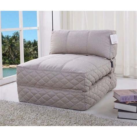 futon bean bag bowery hill convertible bean bag chair bed in latte bh
