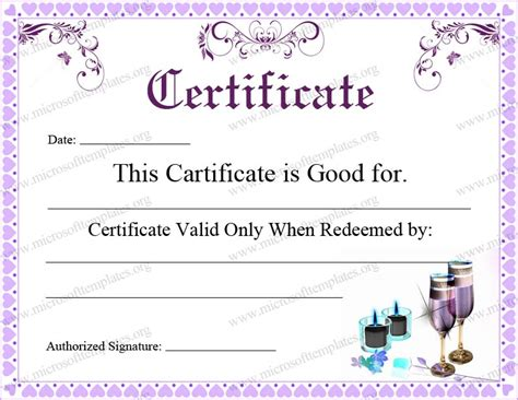 certificate editable template 5 best images of free editable printable gift certificates